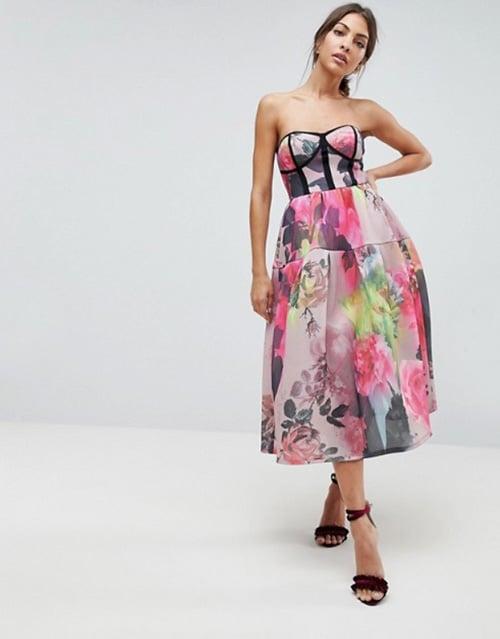 robe invitee de mariage a fleurs