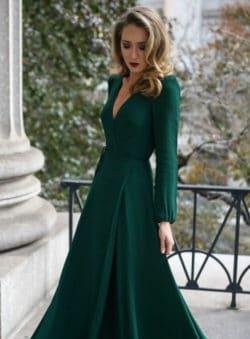 robe invitee de mariage vert