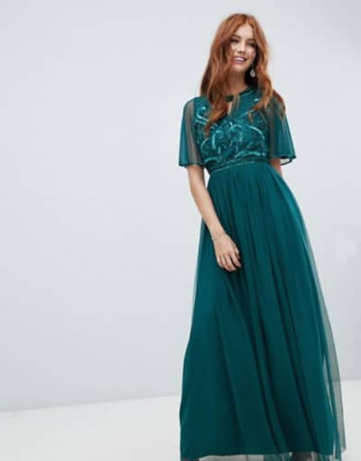 robe vert canard pour mariage chic