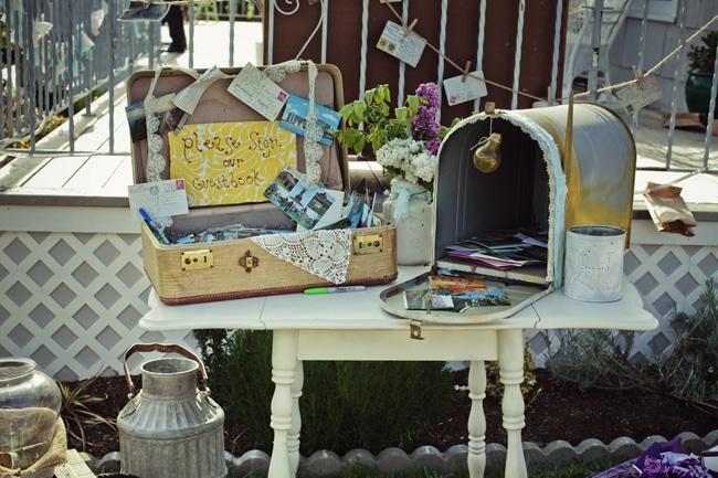 boite a lettre vintage pour livre d or mariage