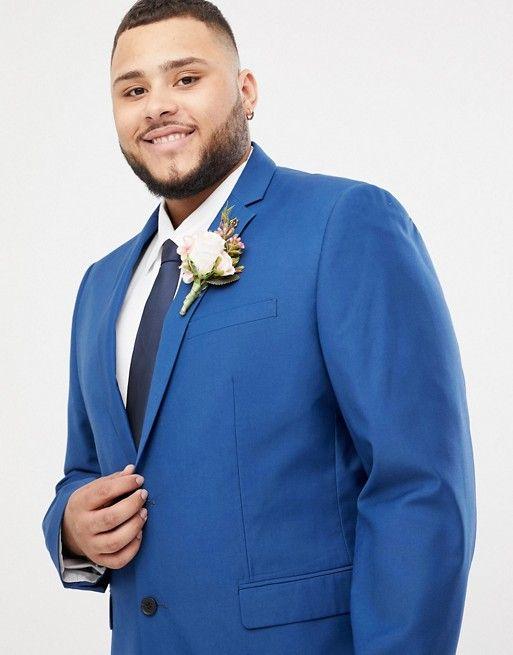costume de mariage homme grande taille couleur bleu farah