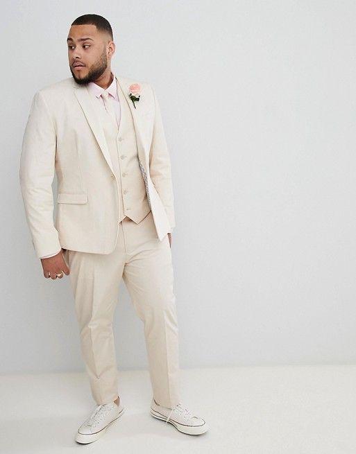 costume de marie homme grande taille beige