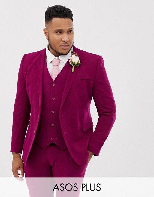 costume homme grande taille rose fuschia