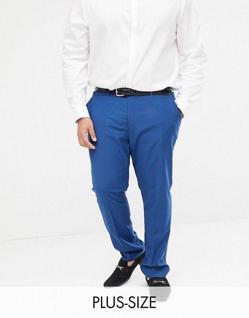 pantalon grande taille homme pour mariage bleu