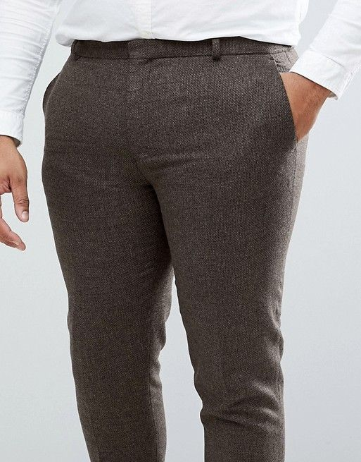 pantalon grande taille homme pour mariage hiver marron