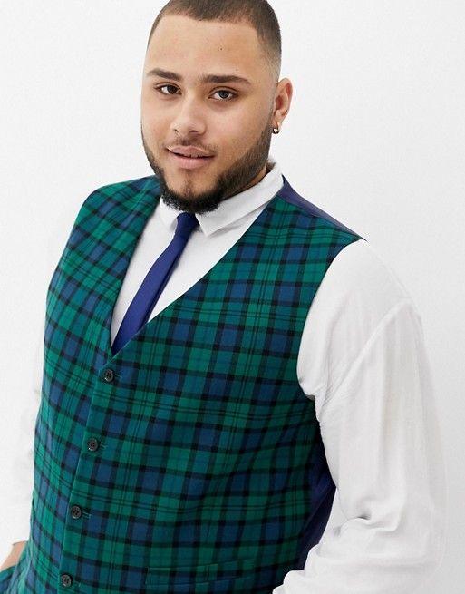 veston de costume de mariage grande taille homme a carreaux