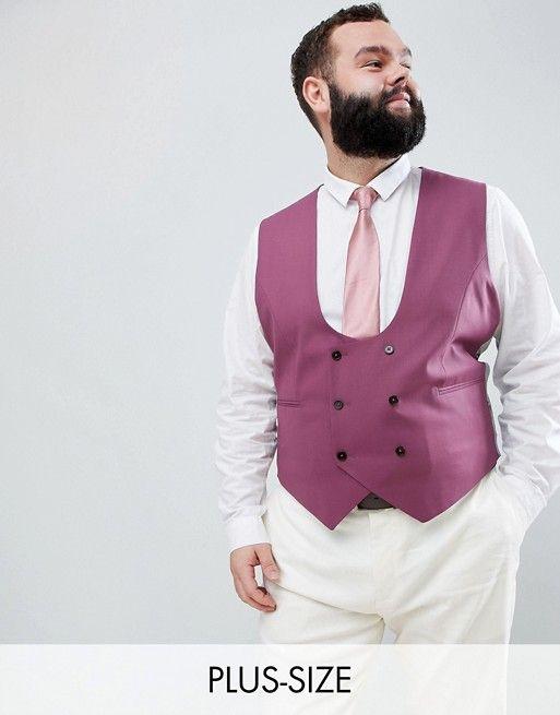 veston de costume de mariage grande taille homme rose fonce