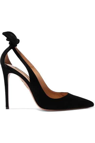 chaussure de mariage noire aquazzura
