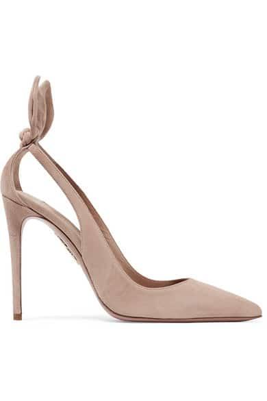 chaussure de mariage nude aquazzura