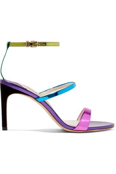 chaussure sophia webster pour mariage avec imprime holographique