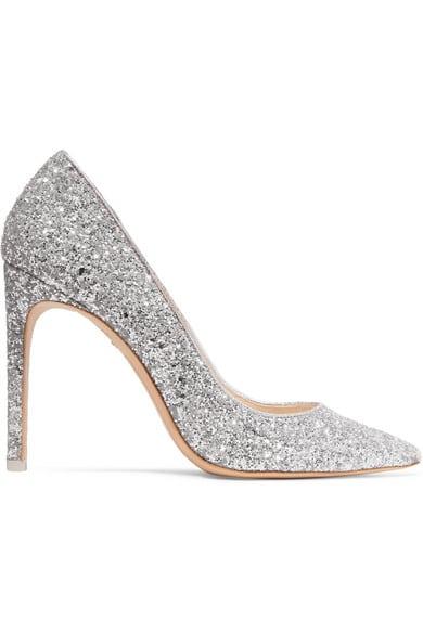chaussures à paillettes argent pour mariage