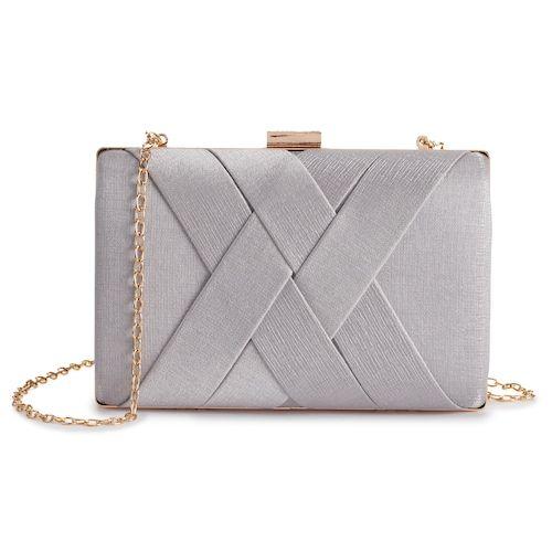 minaudiere petit sac pour mariage gris perle