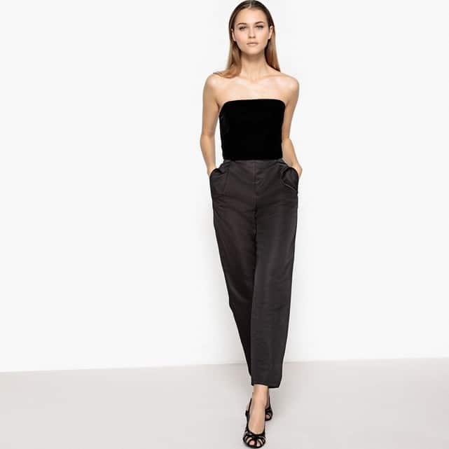pantalon classe noir pour invitee de mariage