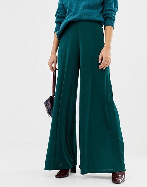pantalon large vert pour mariage