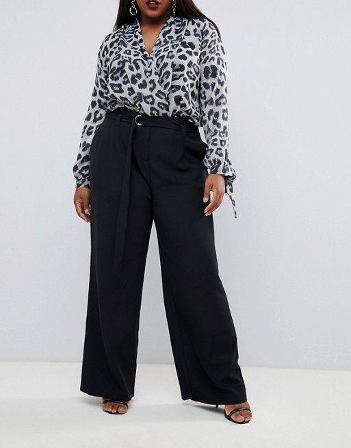 pantalon pour femme ronde noir pour mariage