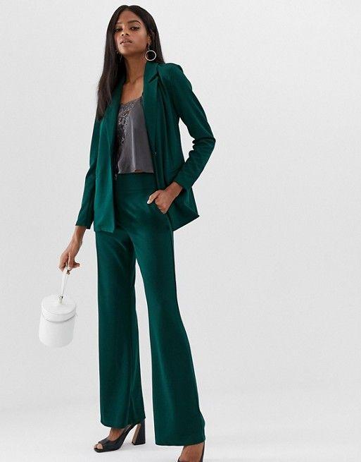 pantalon vert large pour mariage