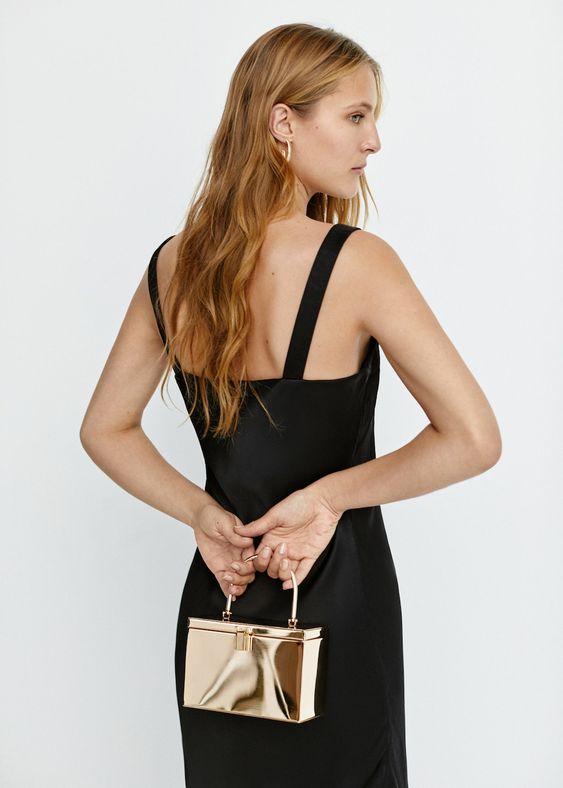 sac coffre metallique or pour mariage