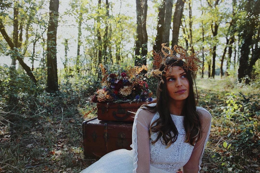 shooting d'inspiration mariage 2019 Marions nous dans les bois