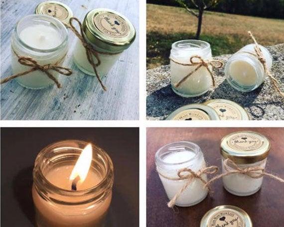 bougies pour table de mariage