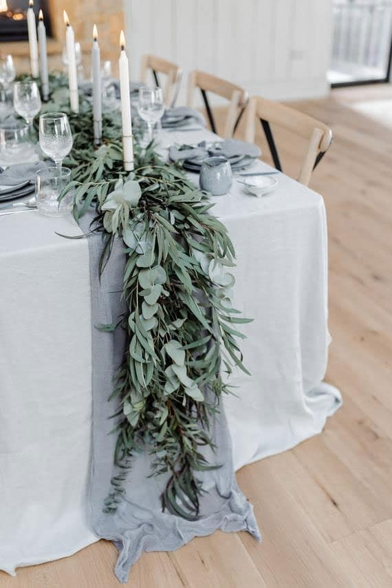chemin de table mariage champetre