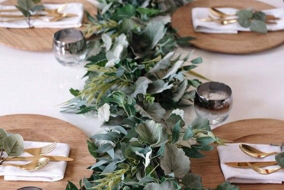 guirlande vegetale pour table de mariage
