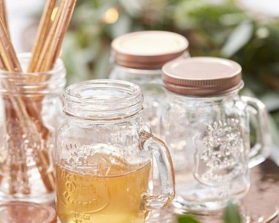 mason jar pour decoration de table de mariage