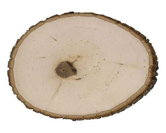 rondin de bois morceaux de bois pour centre de table de mariage
