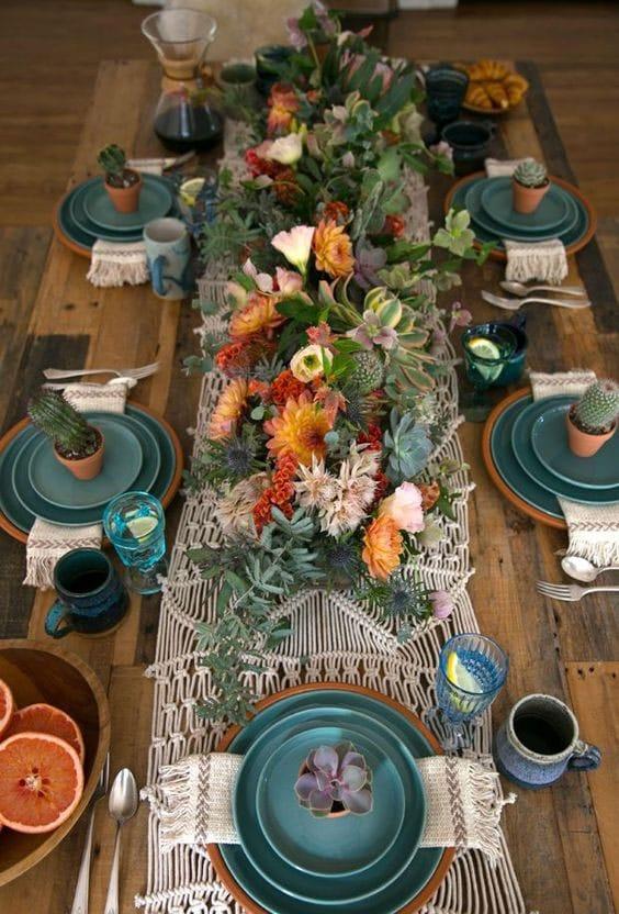 table de mariage boheme