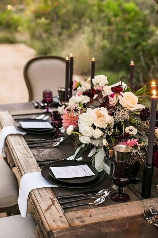 table de mariage champetre chic