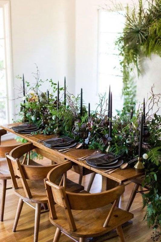 table de mariage champetre chic