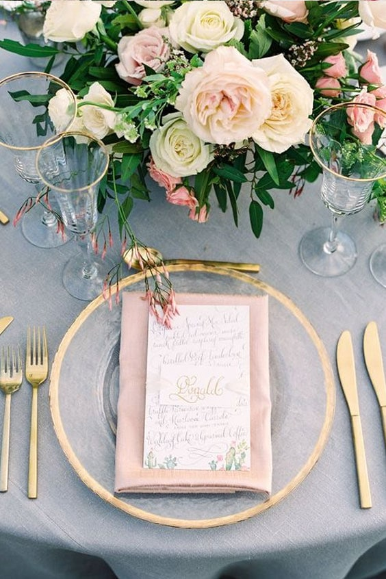table de mariage chicet simple