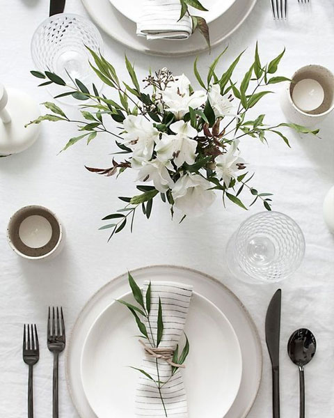 table de mariage simple
