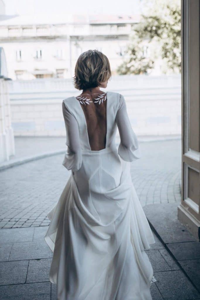 robe de mariee dos nu pas chere