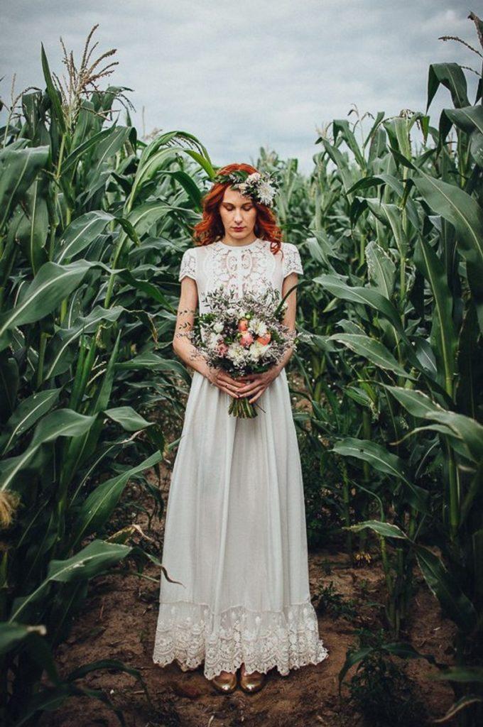 robe de mariee pas chere en dentelle boheme