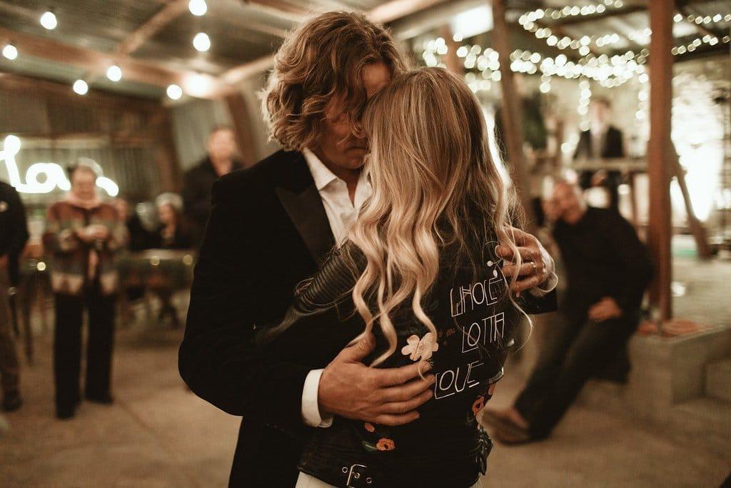 blouson cuir personnalise mariage