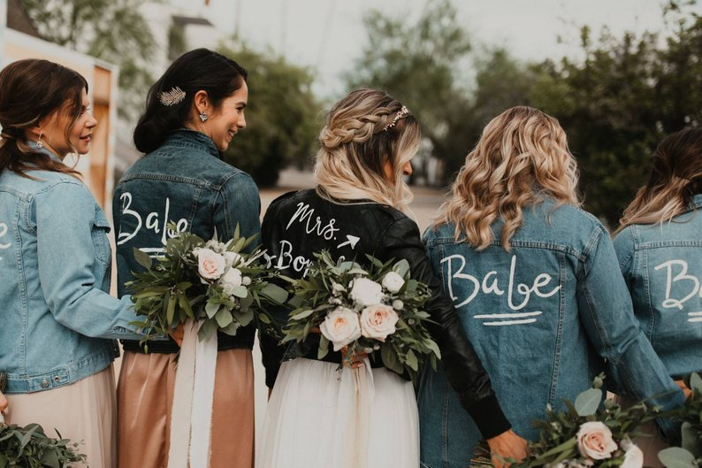 blouson de mariee personnalisee bride