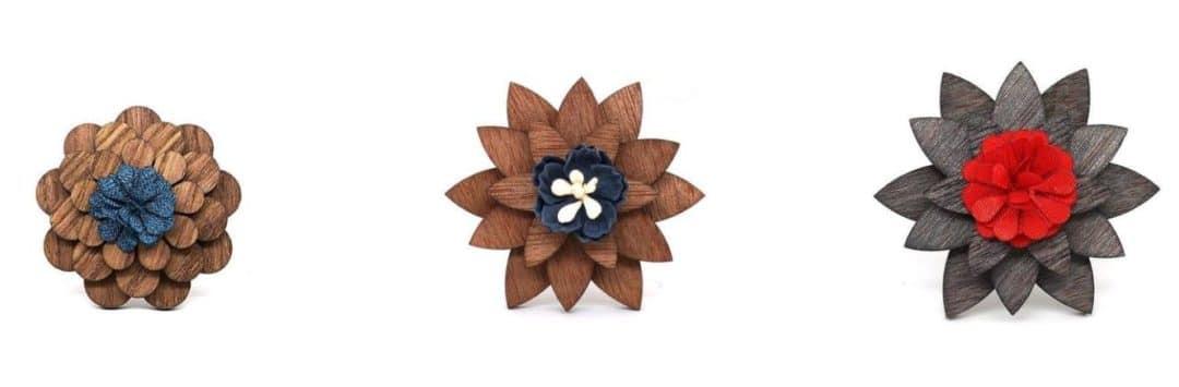 boutonniere fleur en bois mariage