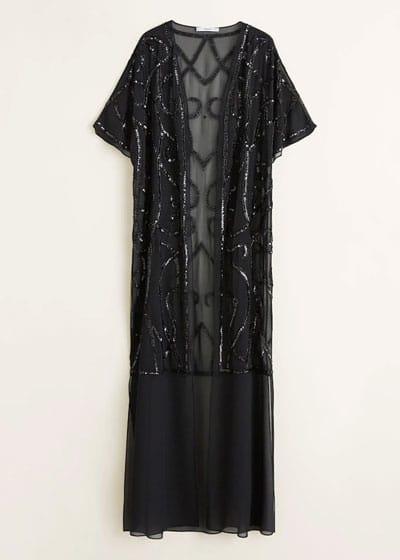 caftan-mariage-noir-sequin-kimono