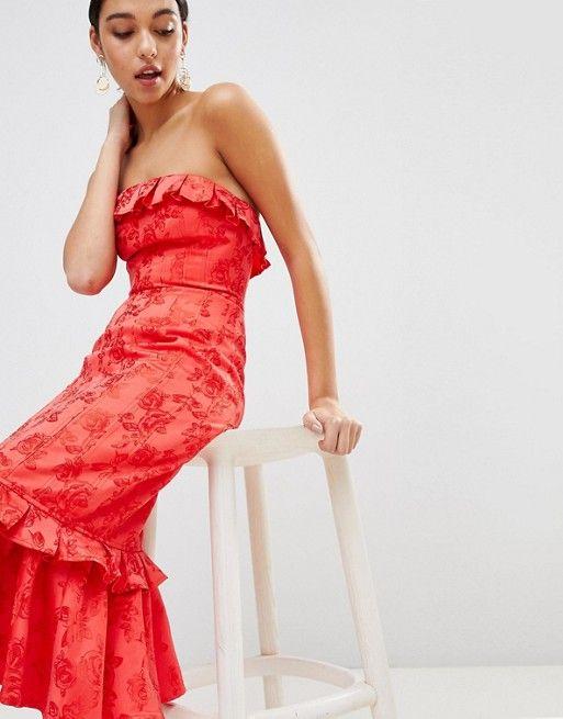 robe corail invitee mariage en satin longue