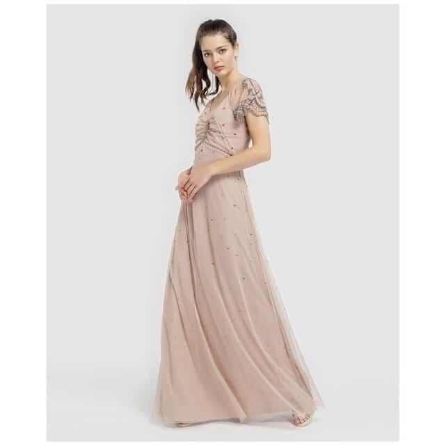 robe de cocktail longue invitee mariage