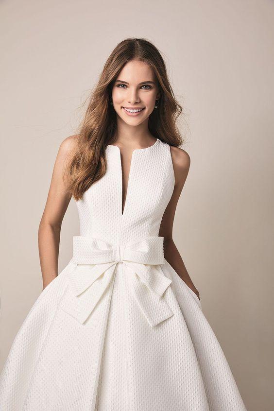 robe de mariee retro avec poches