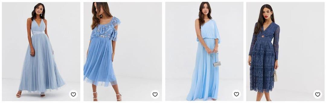 robe-demoiselle-honneur-bleue