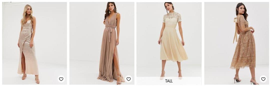 robe-demoiselle-honneur-taupe-dore