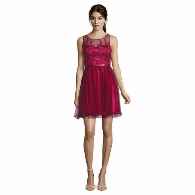 robe en tulle mariage rouge bordeaux 2