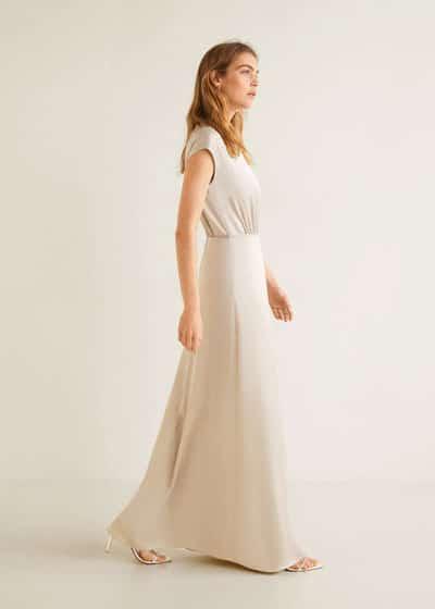 robe-invitee-de-mariage-longue-beige-ete