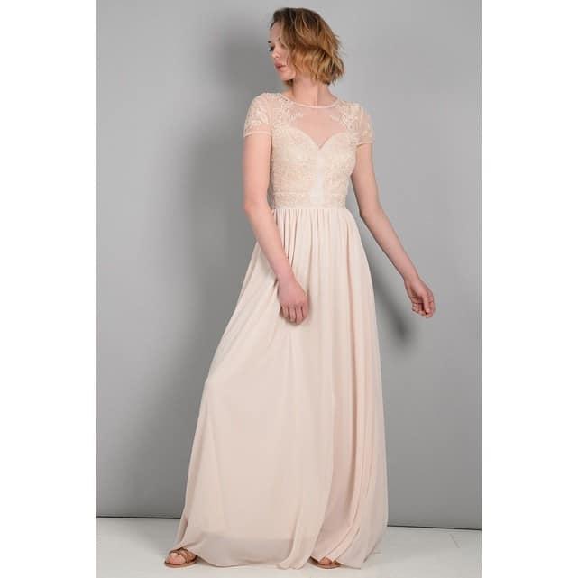 robe longue a sequin mariage ete