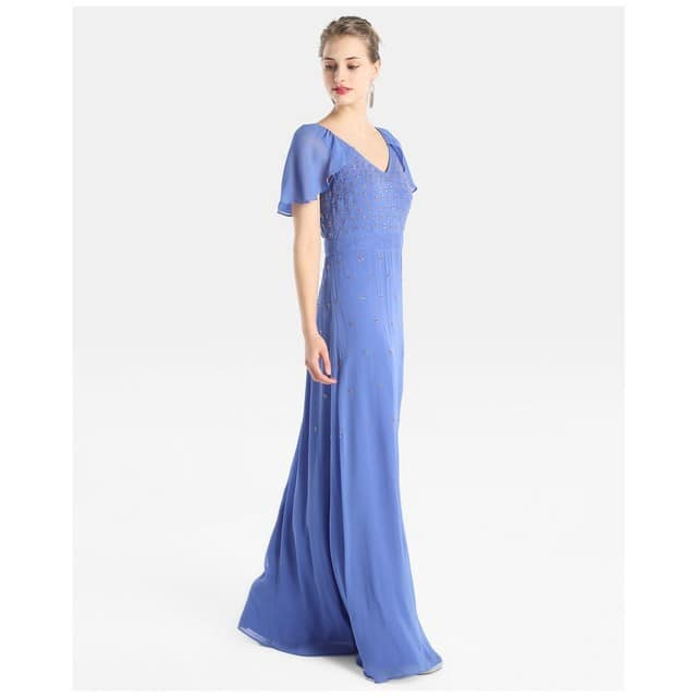 robe longue cocktail mariage