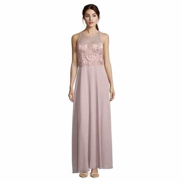 robe longue mariage ete rose poudre