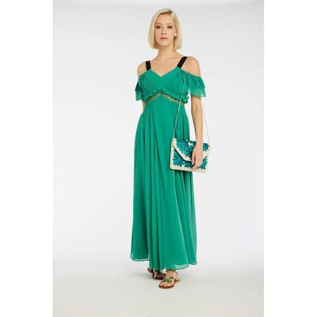 robe longue verte mariage ete