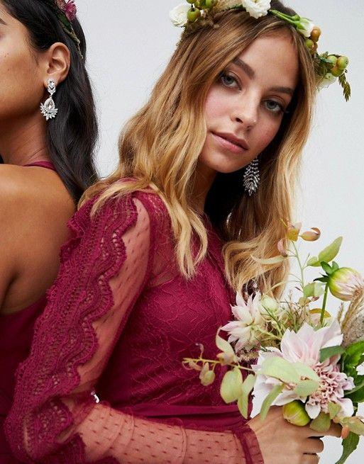 robe rouge bordeaux demoiselle honneur mariage